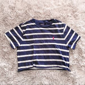 Polo Ralph Lauren • blue and white stripped shirt
